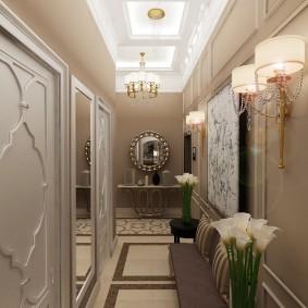 Дизайн коридора в неоклассическом стиле