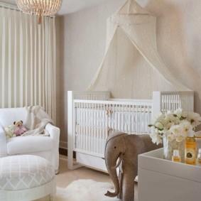 Красивый интерьер детской спальни