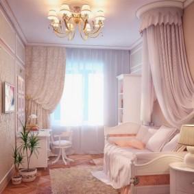 Дизайн комнаты для девочки в розовых тонах