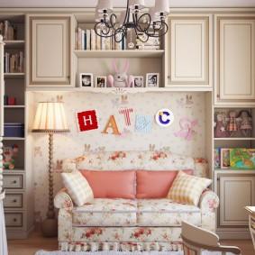 Мягкая мебель в детской классического стиля