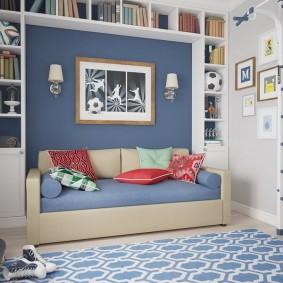 Шведская стенка в комнате мальчика школьника