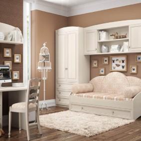 Модульная мебель для детской в стиле классика