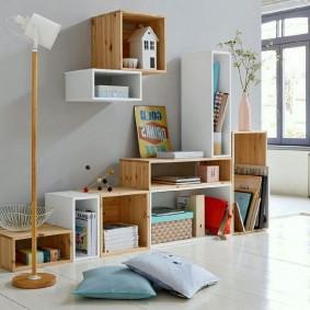 Модульная мебель из сосновых щитов