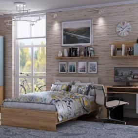 Стильная комната для мальчика подростка