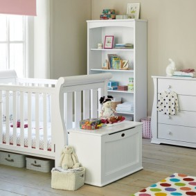 Модульная мебель в комнате младенца