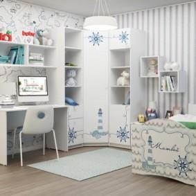 Модульная мебель в пастельных тонах