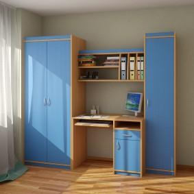 Малогабаритная мебель в комнате мальчика
