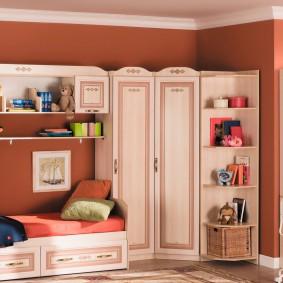 Набор модульной мебели в просторную детскую