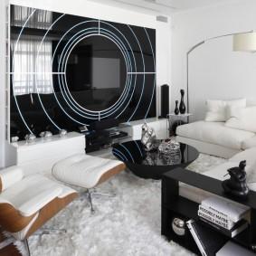 Гостиная комната в стиле хай тек