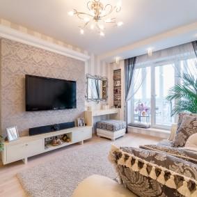 Интерьер зала квартиры в современном стиле