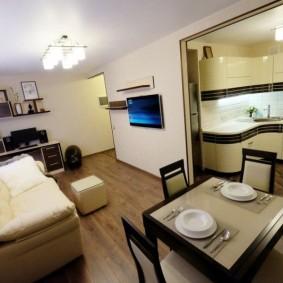 Кухня-гостиная небольшой площади
