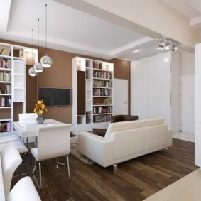 Многоуровневый потолок в квартире с двумя комнатами