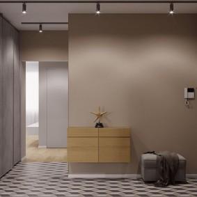 Интерьер прихожей в стиле минимализма