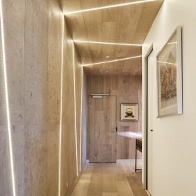 Линейные светильники в узком коридоре