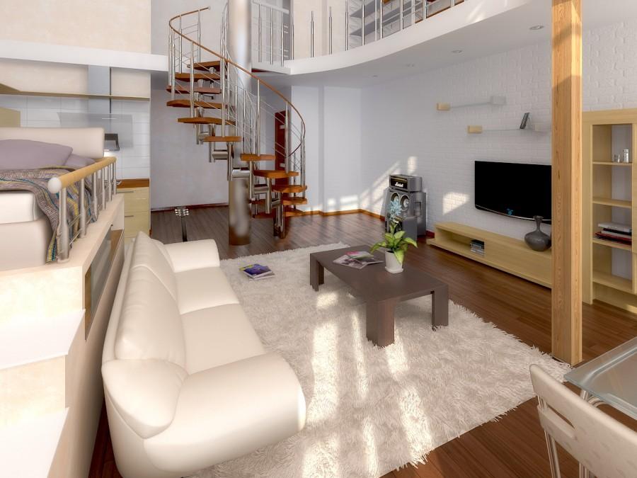 двухэтажная квартира студия в москве фото что предлагает