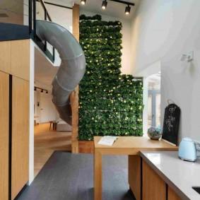Двухуровневая квартира в стиле эко