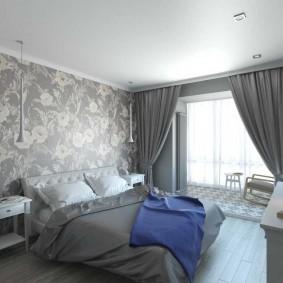 Интерьер спальни в 2 комнатной квартире