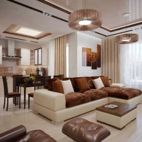 Освещение зала в современной квартире