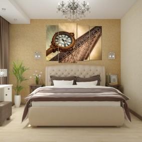Спальня в сталинке после ремонта