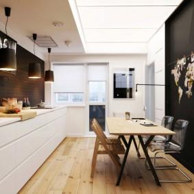 кухонный стол из комбинированных материалов