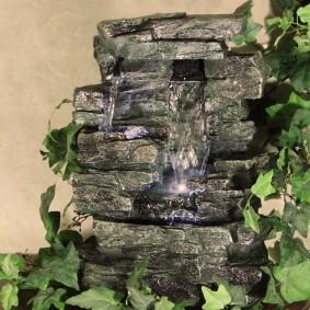 Настольный водопад из искусственного камня