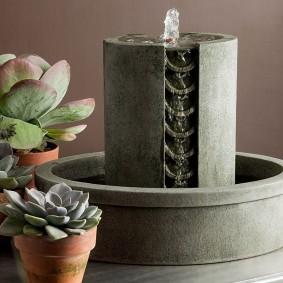 Настольный фонтан в стиле минимализма