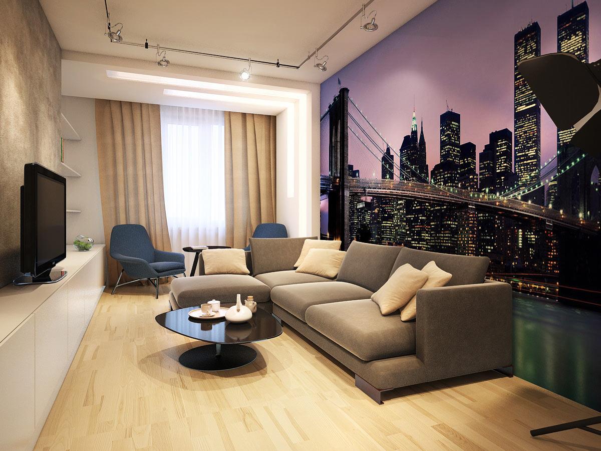 Дизайн в гостинной с картинками