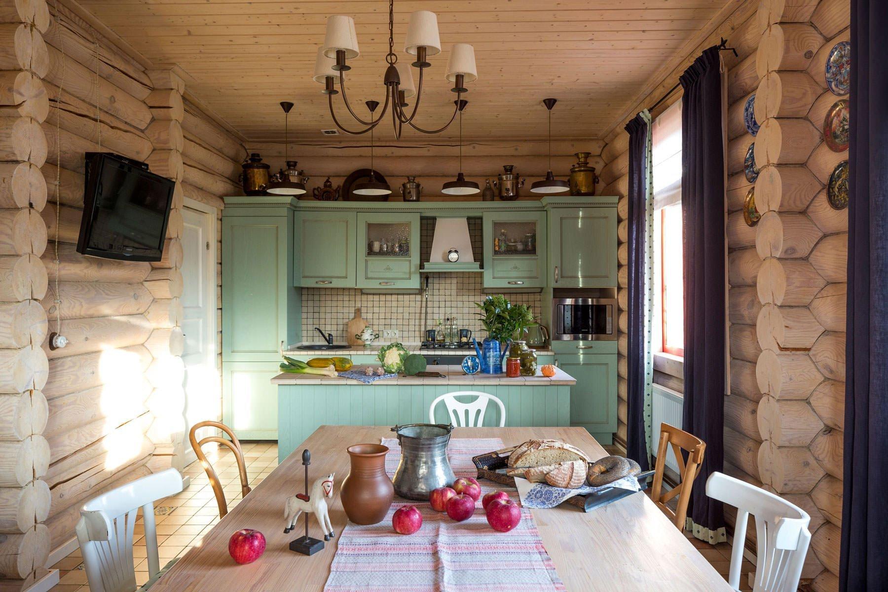 Кухня белый фасад классика фото хозяева дач