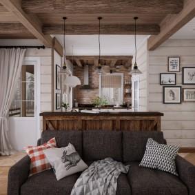 Декор подушками интерьера гостиной