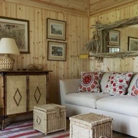 Плетенные пуфы с местом для хранения вещей