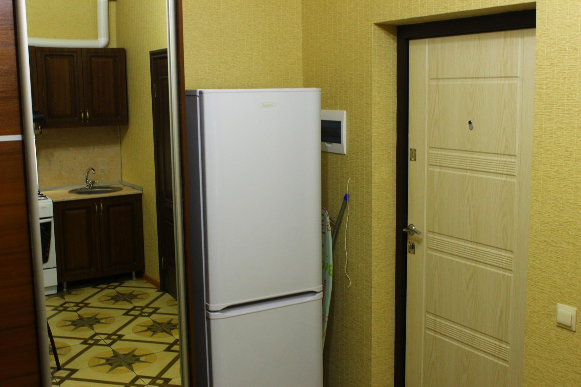 Как спрятать холодильник в прихожей фото