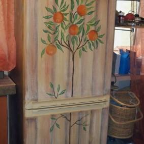 Художественная роспись холодильника своими руками