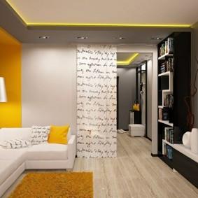 Акценты желтого света в интерьере квартиры
