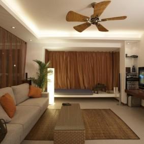 Уютная квартира-студия в современном стиле