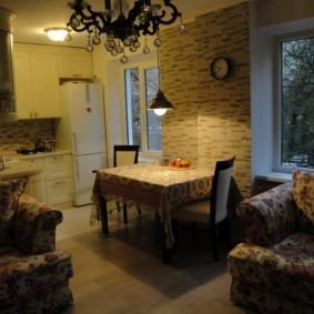 Уютная атмосфера в кухне-гостиной
