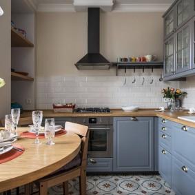 Открытая вытяжка на кухне сканди
