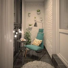 Керамическая плитка на лоджии квартиры