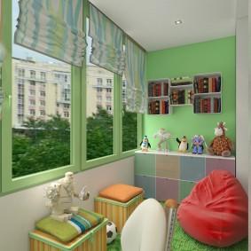 Игровая комната на лоджии в квартире