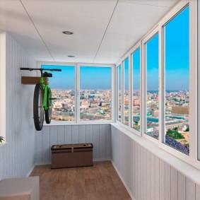 Хранение велосипеда на утепленном балконе