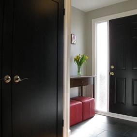 Черный шкаф распашного типа