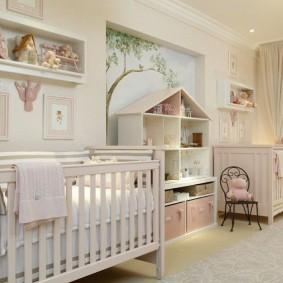 Деревянные кроватки для новорожденных близнецов
