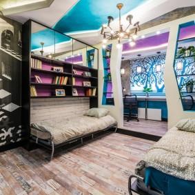 Интерьер комнаты для двоих детей в современном стиле