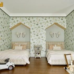 Уютная комната с детской мебелью