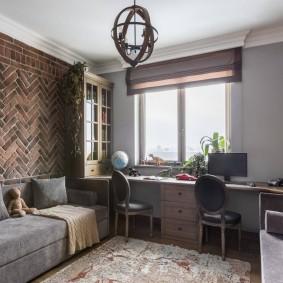 Подростковая комната в строгом стиле