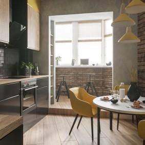 Кухонный стол круглой формы