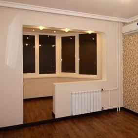 Ремонт в комнате после присоединения балкона