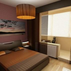 Коричневый цвет в дизайне спальни