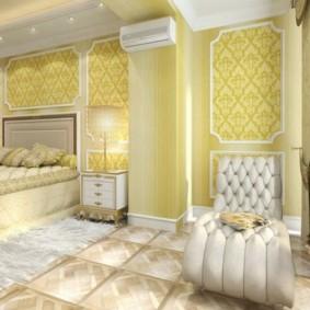 Дизайн спальни после объединения с лоджией