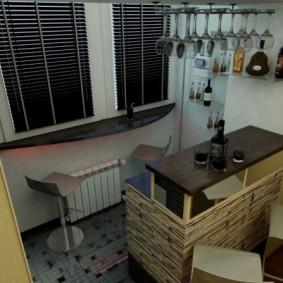 Балкон кухни после присоединения к кухне
