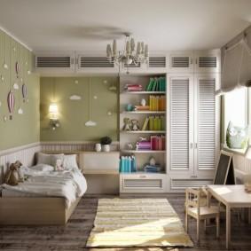 Встроенная мебель в детской комнате